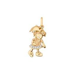 Pingente De Ouro 18k Menina Com Guarda-chuvas - 10... - Fábrica do Ouro