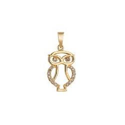 Pingente De Ouro 18k Coruja Com Zircônias - 101987 - Fábrica do Ouro