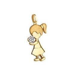 Pingente De Ouro 18k Menina Com Coração - 101992 - Fábrica do Ouro