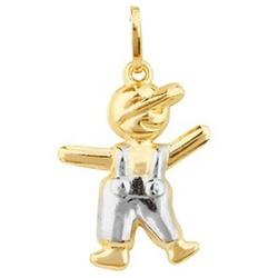 Pingente De Ouro 18k Menino De 20mm - 101998 - Fábrica do Ouro