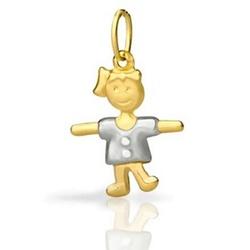 Pingente De Ouro 18k Menina De 20mm - 101999 - Fábrica do Ouro