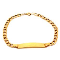 Pulseira De Ouro 18k Groumet De 5mm Com 21cm e Cha... - Fábrica do Ouro