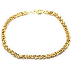 Pulseira De Ouro 18k Malha Romana De 20cm Com 4,4m... - Fábrica do Ouro