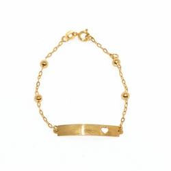 Pulseira Infantil De Ouro 18k Cartie De 13cm Com B... - Fábrica do Ouro