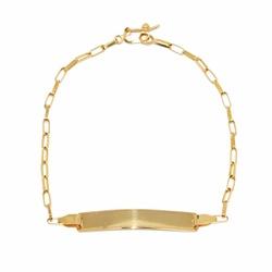 Pulseira Infantil De Ouro 18k Cartie De 16cm Com C... - Fábrica do Ouro