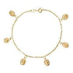 Pulseira De Ouro 18k Santas Com 19cm - 101901 - Fábrica do Ouro