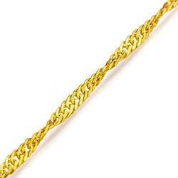 Tornozeleira De Ouro 18k Singapura De 1,0mm Com 24... - Fábrica do Ouro