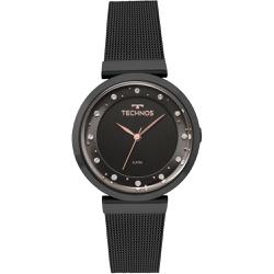 Relógio Technos Feminino Crystal 2035mmy/4p Preto ... - Fábrica do Ouro
