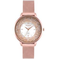 Relógio Technos Feminino Crystal 2035mqb/5k Rosé -... - Fábrica do Ouro