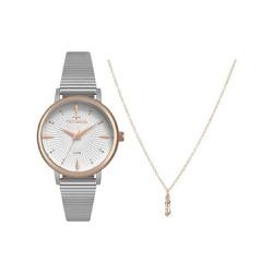 Kit Relógio Technos Feminino Style 2036mjx/k5b Bic... - Fábrica do Ouro