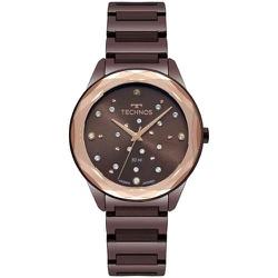 Relógio Technos Feminino Crystal 2036mkj/4m Marrom... - Fábrica do Ouro