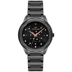 Relógio Technos Feminino Crystal 2036mkk/4p Preto ... - Fábrica do Ouro