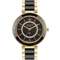 Relógio Technos Feminino Ceramic 2036mkp/4p Dourad... - Fábrica do Ouro
