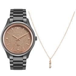 Kit Relógio Technos Feminino Luck 2036mma/k4t Pret... - Fábrica do Ouro