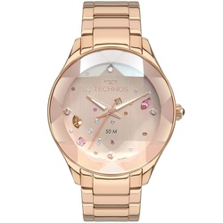 Relógio Technos Feminino Crystal 2039ca/4t Rosé - ... - Fábrica do Ouro
