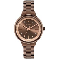 Relógio Technos Feminino Trend 2039da/1m Marrom - ... - Fábrica do Ouro