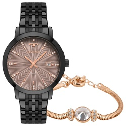 Kit Relógio Technos Feminino Trend 2117laq/k4t Pre... - Fábrica do Ouro