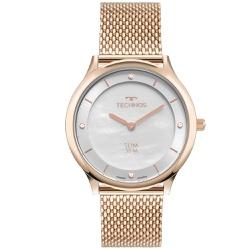 Relógio Technos Feminino Slim Gl20hl/1k Rosé - 700... - Fábrica do Ouro