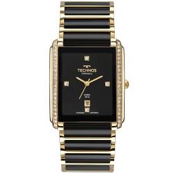 Relógio Technos Feminino Ceramic Gn10ay/9p Dourado... - Fábrica do Ouro