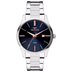 Relógio Technos Masculino Steel 2115mpn/4k Prata -... - Fábrica do Ouro