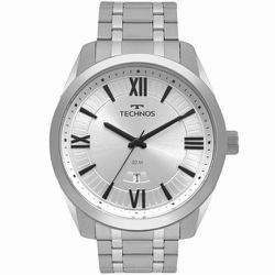 Relógio Technos Masculino Steel 2115msq/1k Prata -... - Fábrica do Ouro