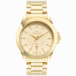 Relógio Technos Masculino Steel 2115mxh/1d Dourado... - Fábrica do Ouro