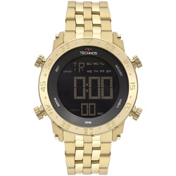 Relógio Technos Masculino Digital Bjk006ac/4p Dour... - Fábrica do Ouro