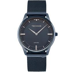 Relógio Technos Unissex Slim 9t22an/4a Azul - 7003... - Fábrica do Ouro