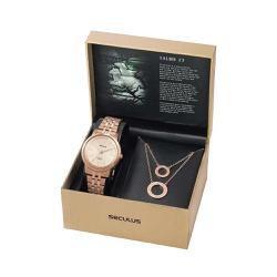 Kit Relógio Seculus Feminino Salmo 23 20890lpskra2... - Fábrica do Ouro