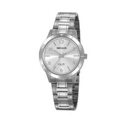 Relógio Seculus Feminino Cristais 20887l0svna1 Pra... - Fábrica do Ouro
