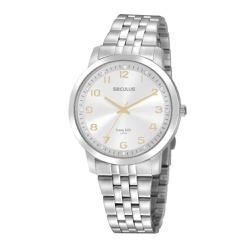 Relógio Seculus Feminino Clássico Cristais 20895l0... - Fábrica do Ouro