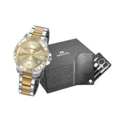 Kit Relógio Seculus Masculino Manicure 20854gpsvba... - Fábrica do Ouro