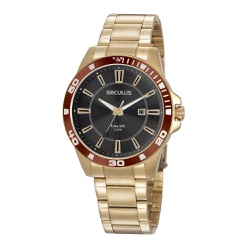 Relógio Seculus Masculino Casual 20956gpsvda3 Dour... - Fábrica do Ouro