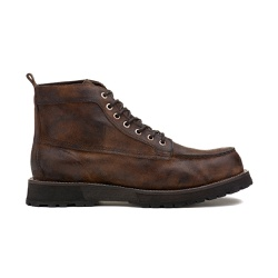 Bota Masculina ZAKI Washed Conhaque - Factum Shoes