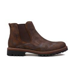 Bota Masculina SALATIEL Washed Conhaque - Factum Shoes