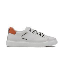 Sneakers Masculino THOR Branco/Tangerina - Factum Shoes