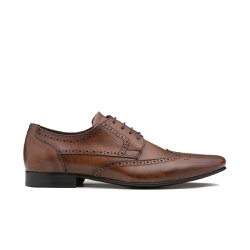 Sapato Social Masculino RUSSELL Conhaque - Factum Shoes
