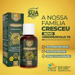 Verdprópolis Solução Alcoolica 70% 30ml - Fauna e Flora l Sua Loja Online de Produtos Naturais