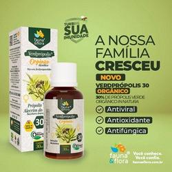 Verdeprópolis Orgânico Solução Alcoólica 30% 30ml ... - Fauna e Flora l Sua Loja Online de Produtos Naturais