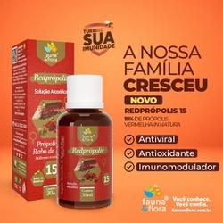 Redprópolis Solução Alcoolica 15% 30ml - Fauna e Flora l Sua Loja Online de Produtos Naturais