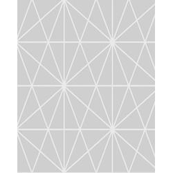 PAPEL DE PAREDE GEOMETRICO 0,53X10MT - Fechacom