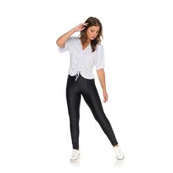 Blusa lisa decote em V Branca - 60338 - Feronia