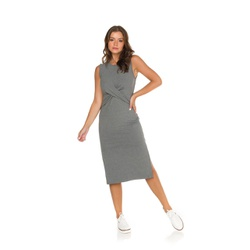Vestido Canelado Cinza - 40459 - Feronia
