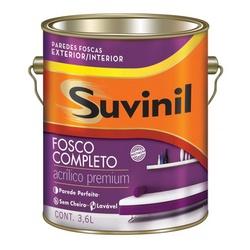 TINTA ACRILICO FOSCO BRANCO 3,6 LITROS SUVINIL - 0... - Ferragem Igor