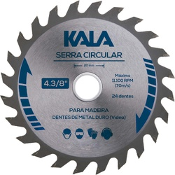 DISCO SERRA CIRCULAR 24 DENTES 4.3/8 KALA - 02051 - Ferragem Igor