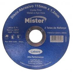 DISCO CORTE 4,5 ACO/INOX MISTER - 16728 - Ferragem Igor