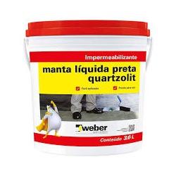 MANTA LIQUIDA PRETO GL 4,5KG QUARTZOLIT - 02503 - Ferragem Igor