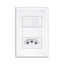 Interruptor Simples Com 1 Tomada 20a 4x2 Evidence ... - FERRAGENS & BAZAR