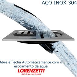 Grelha Inox Automatica Abre e Fecha 15 x 15 Lorenz... - FERRAGENS & BAZAR