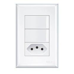 Interruptor Com 2 Seções e Tomada 2p+t 10a Evidenc... - FERRAGENS & BAZAR